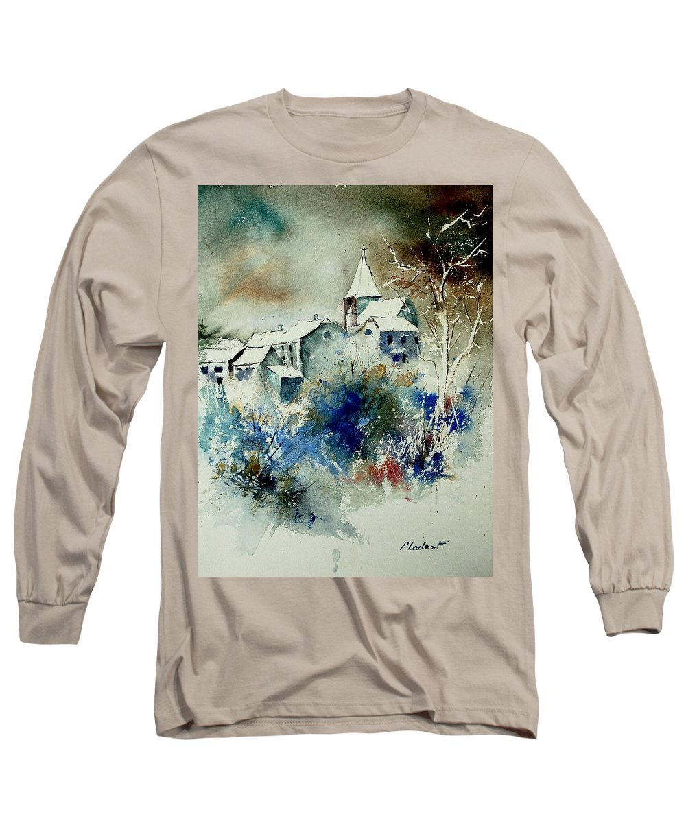 Winter Long Sleeve T-Shirt featuring the painting Watercolor 140408 by Pol Ledent