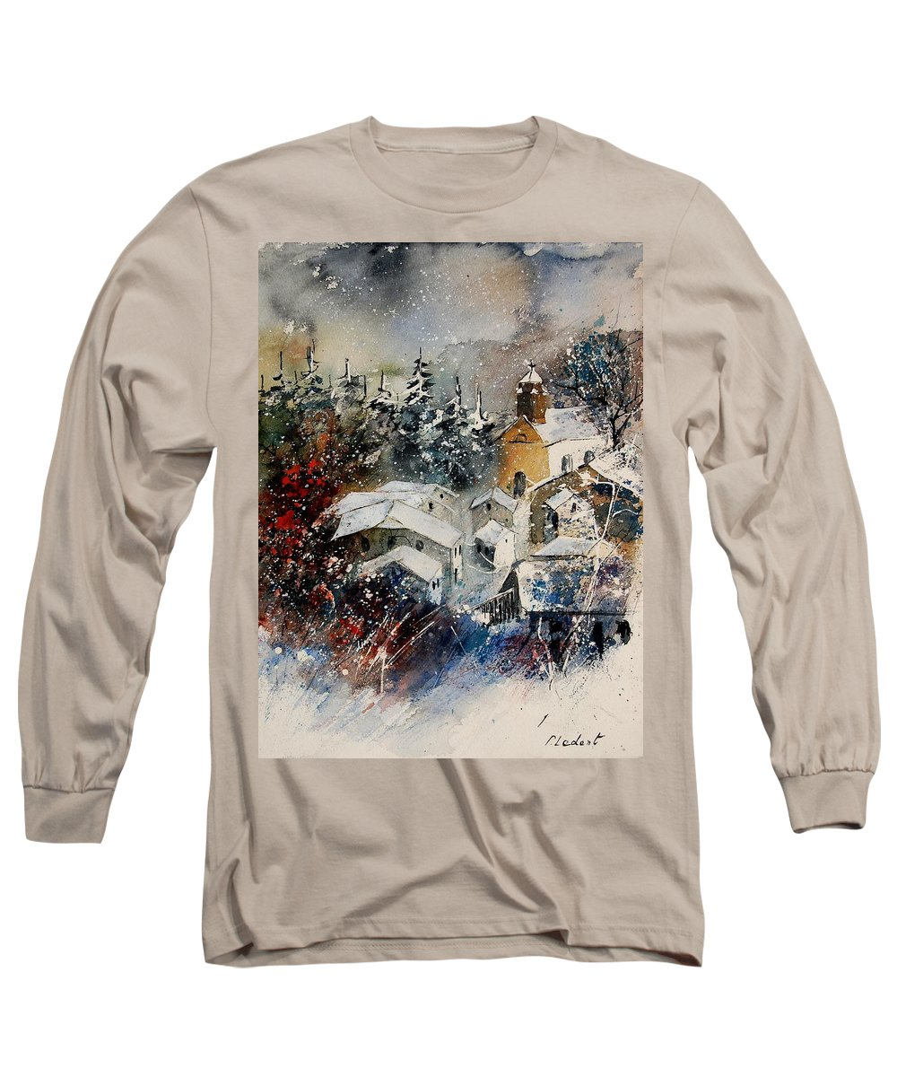 Winter Long Sleeve T-Shirt featuring the painting Watercolor 160908 by Pol Ledent