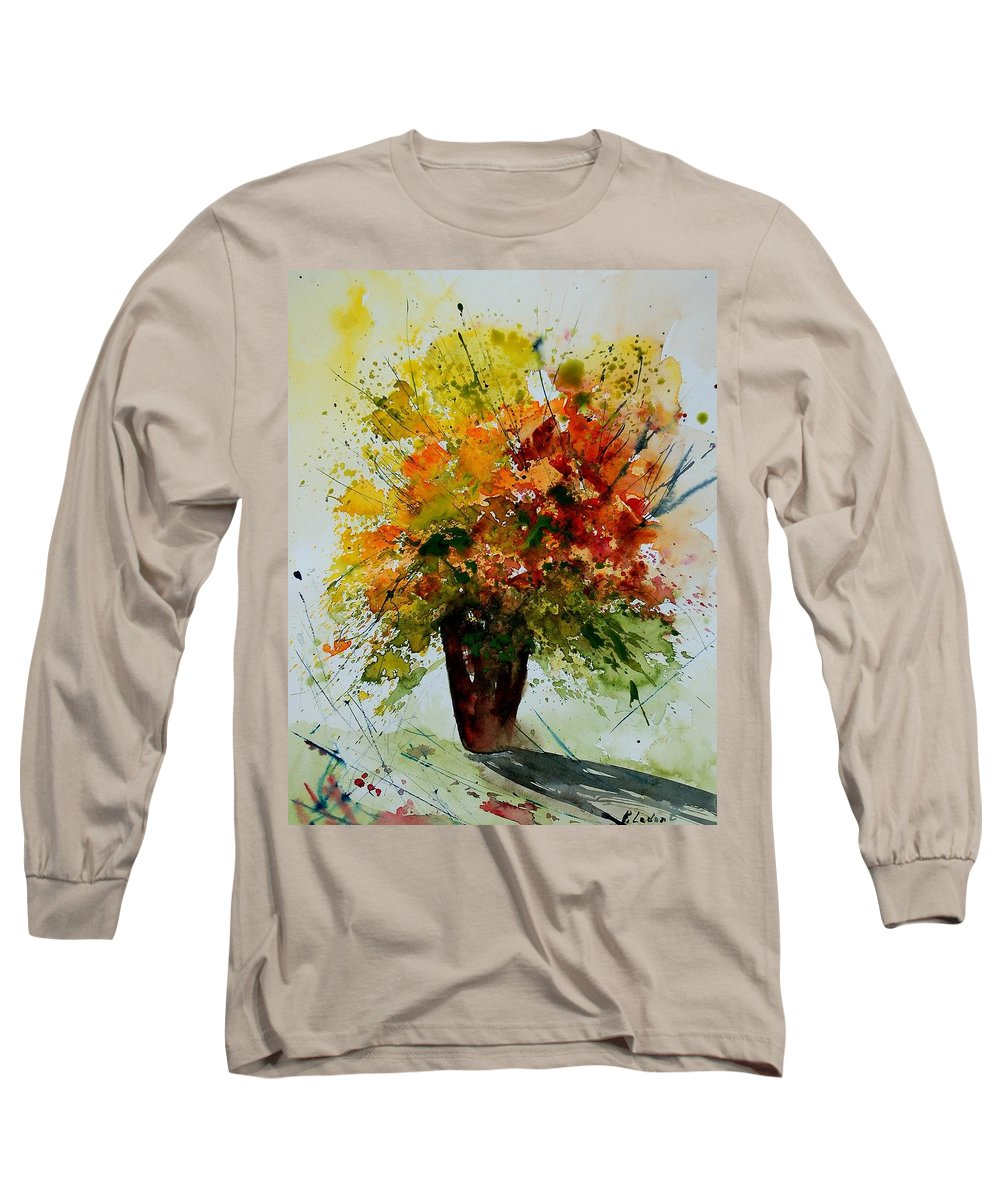 Flowers Long Sleeve T-Shirt featuring the painting Watercolor 290806 by Pol Ledent