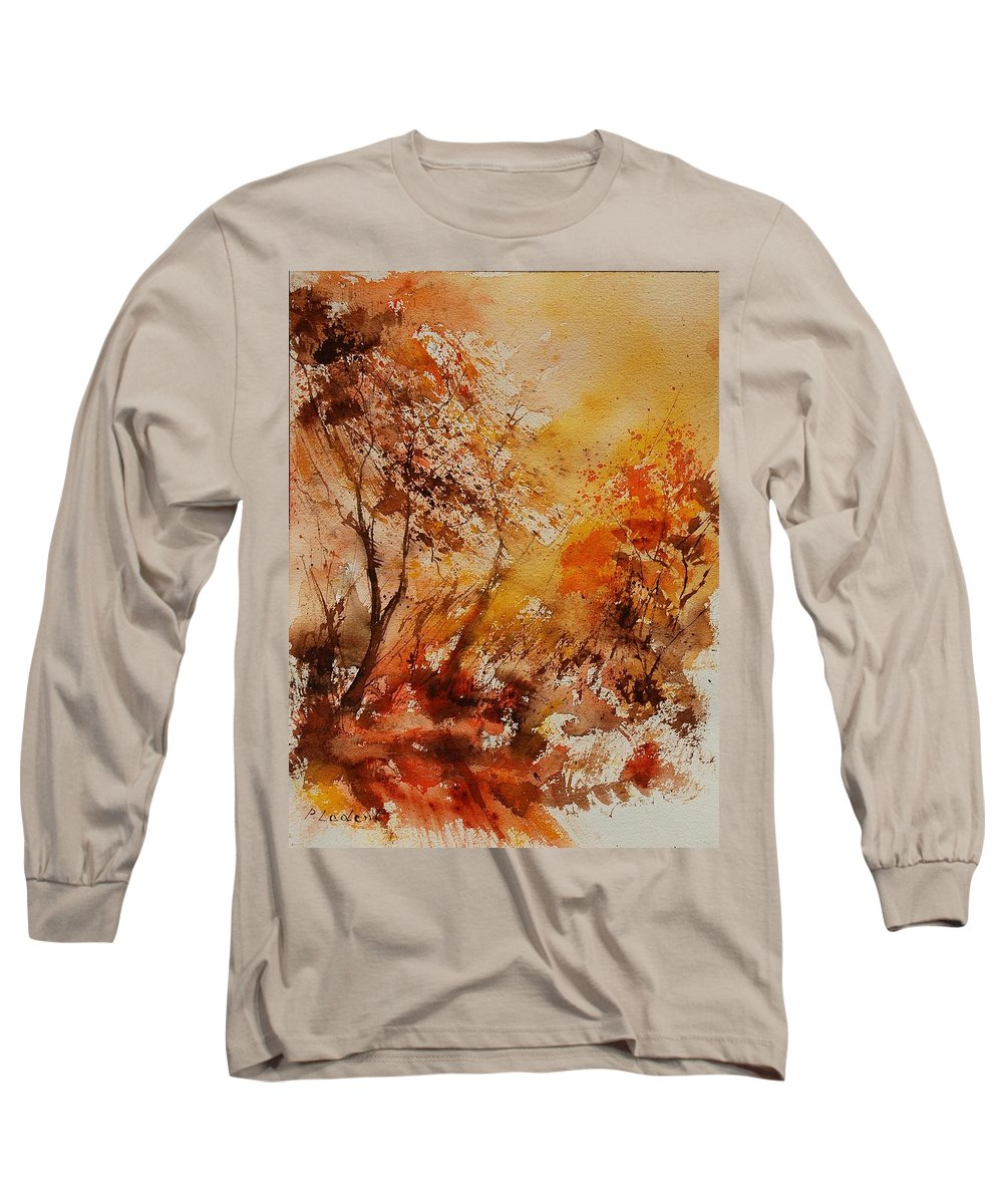 Tree Long Sleeve T-Shirt featuring the painting Watercolor 903071 by Pol Ledent