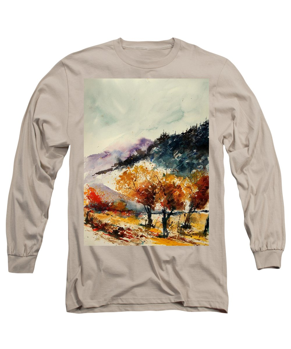 Tree Long Sleeve T-Shirt featuring the painting Watercolor 908041 by Pol Ledent