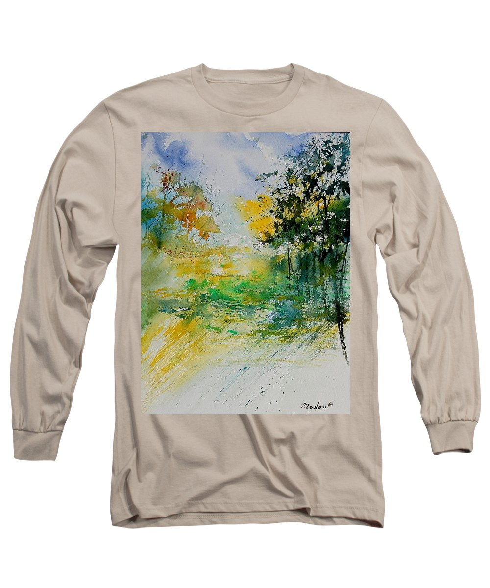 Water Long Sleeve T-Shirt featuring the painting Watercolor 908051 by Pol Ledent