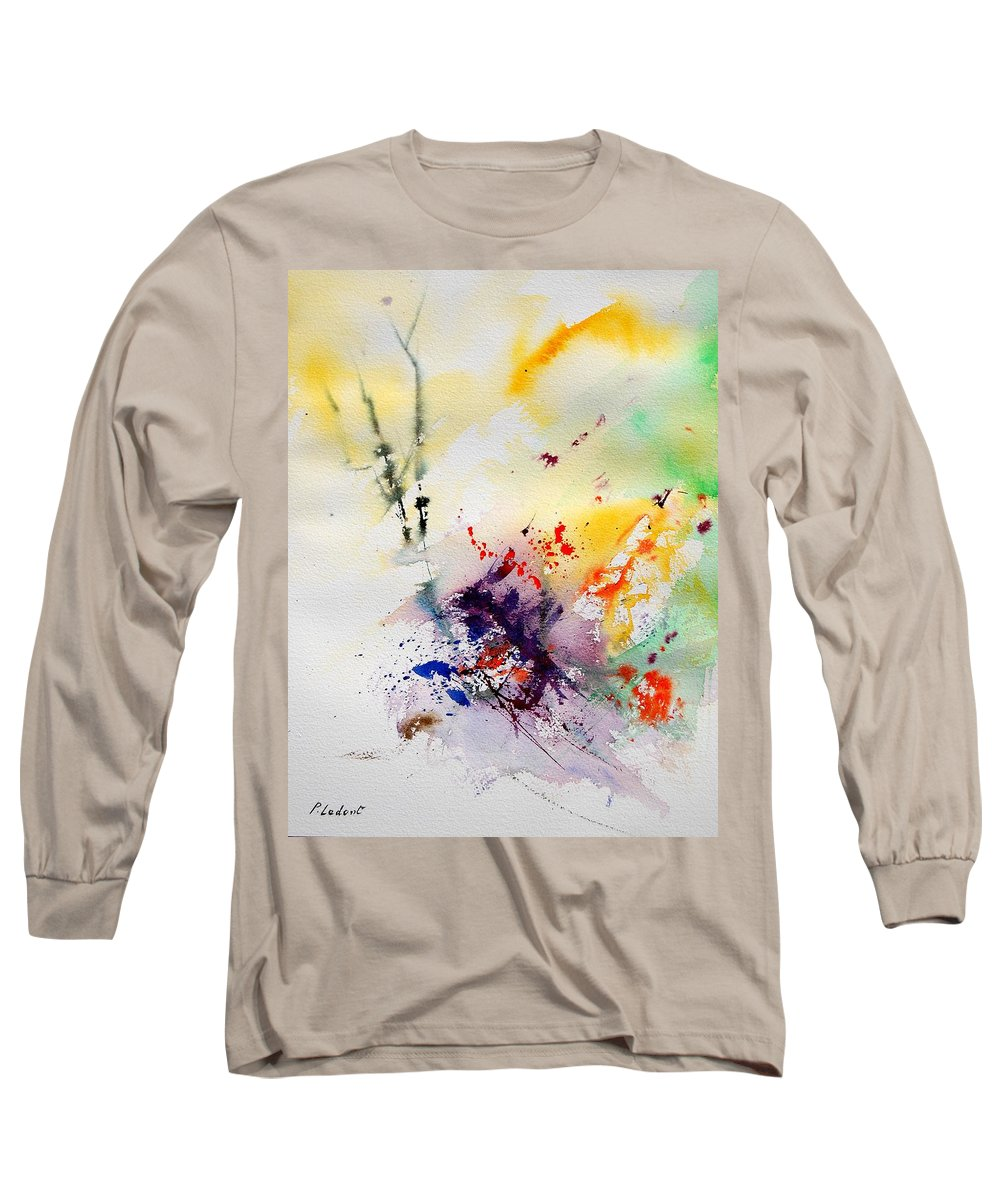 Abstract Long Sleeve T-Shirt featuring the painting Watercolor 908090 by Pol Ledent