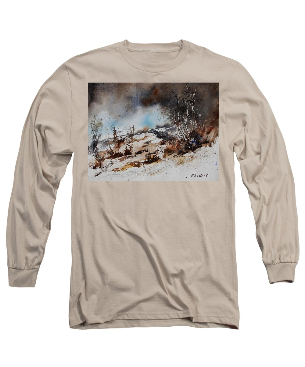 River Long Sleeve T-Shirt featuring the painting Watercolor Jjook by Pol Ledent