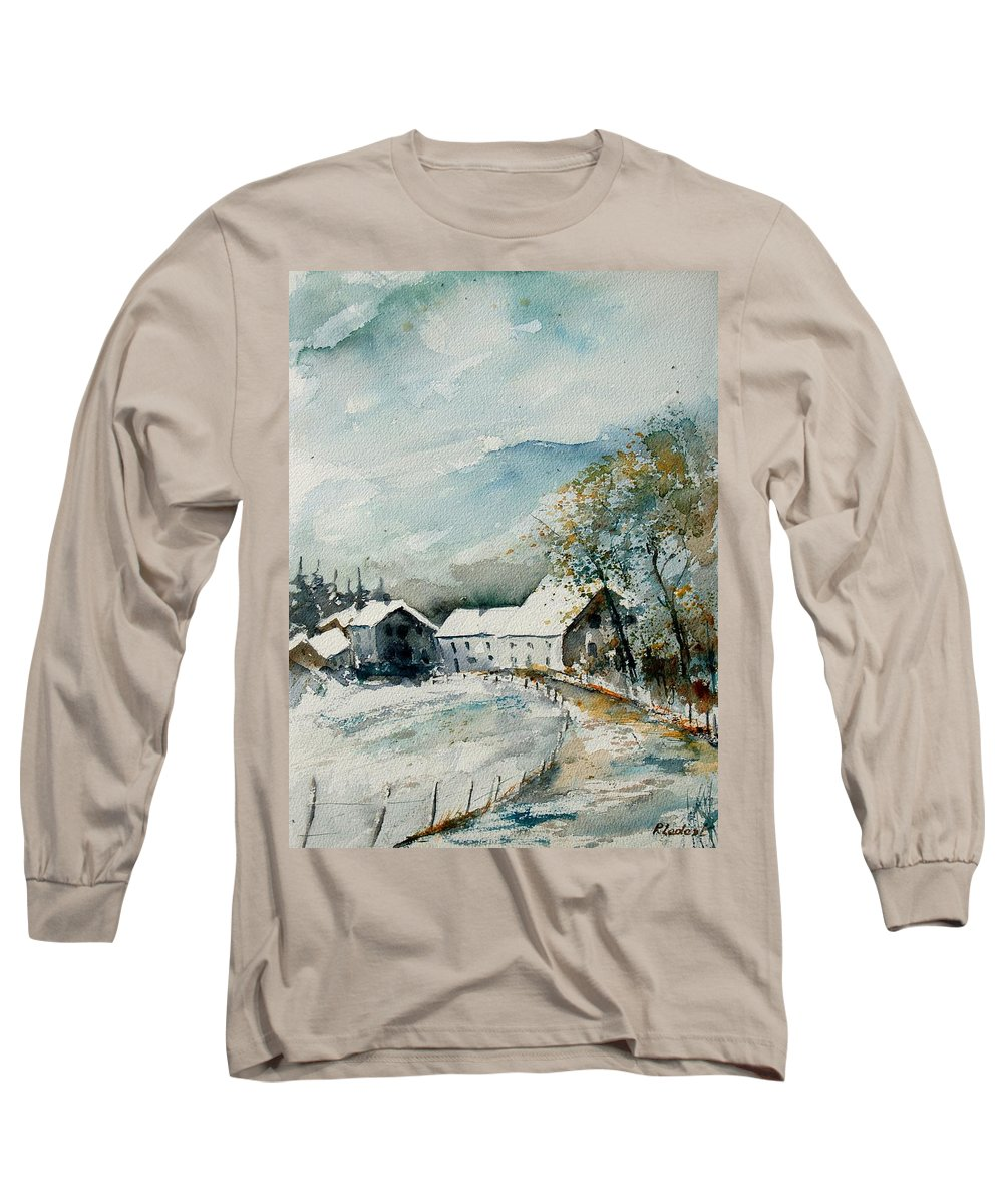 River Long Sleeve T-Shirt featuring the painting Watercolor Sechery 1207 by Pol Ledent
