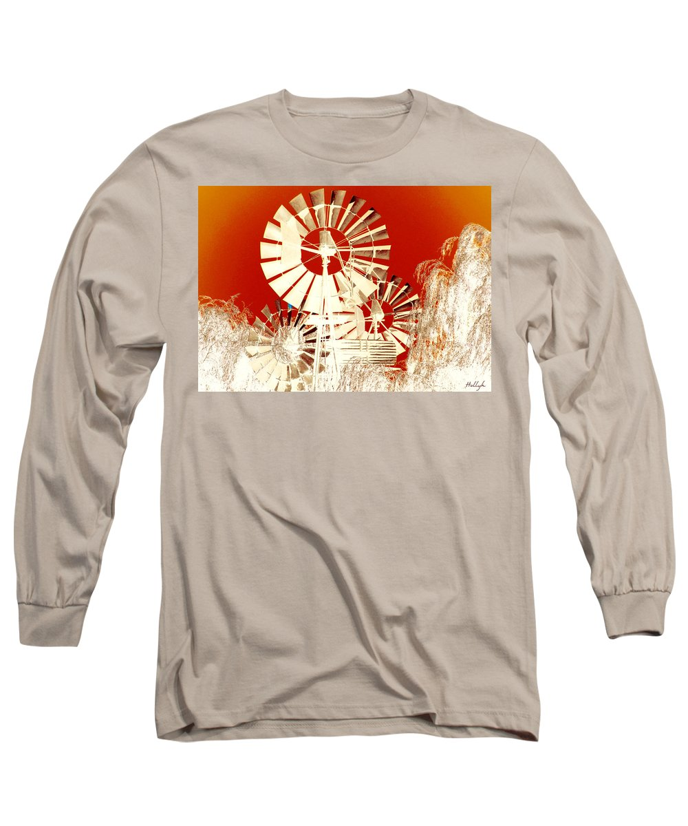 Landscapes Long Sleeve T-Shirt featuring the photograph Wind In The Willows by Holly Kempe