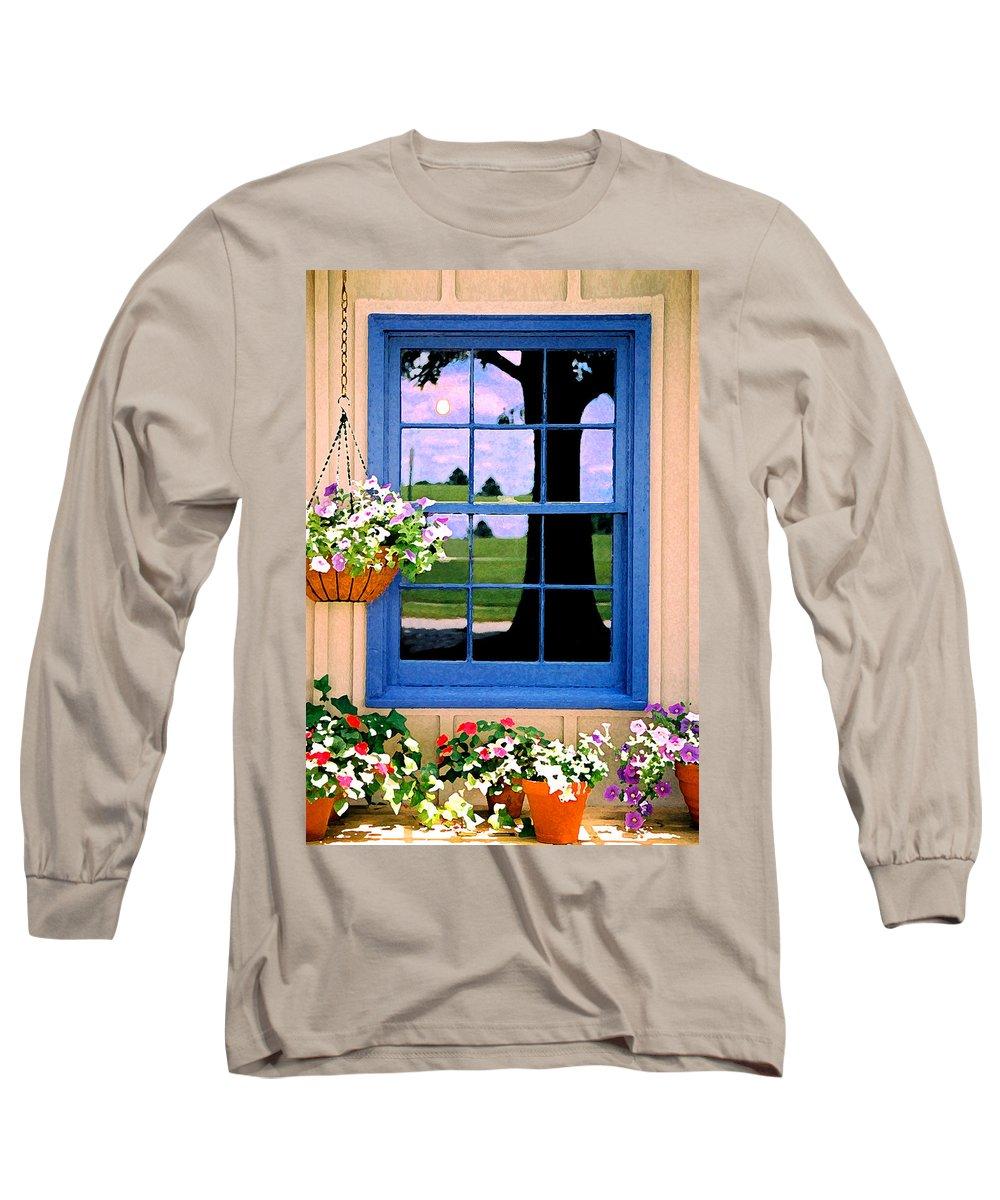 Still Life Long Sleeve T-Shirt featuring the photograph Window by Steve Karol