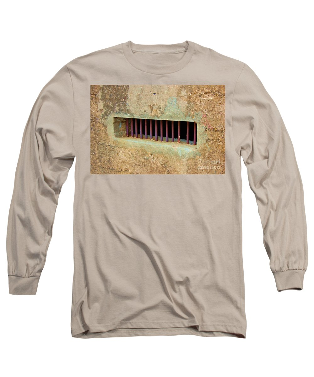 Jail Long Sleeve T-Shirt featuring the photograph Window To The World by Debbi Granruth