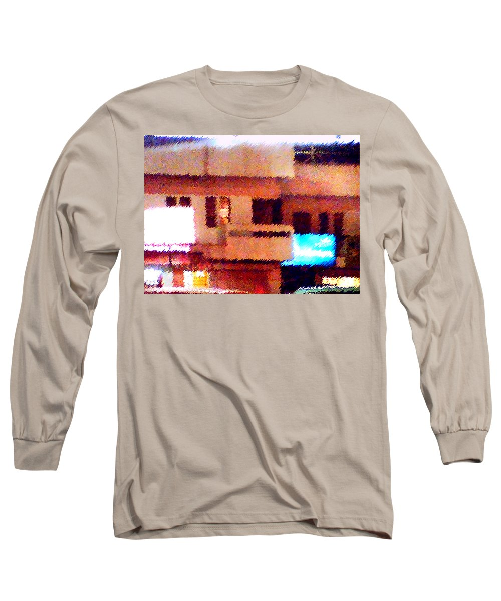Digital Art Long Sleeve T-Shirt featuring the painting Windows by Anil Nene