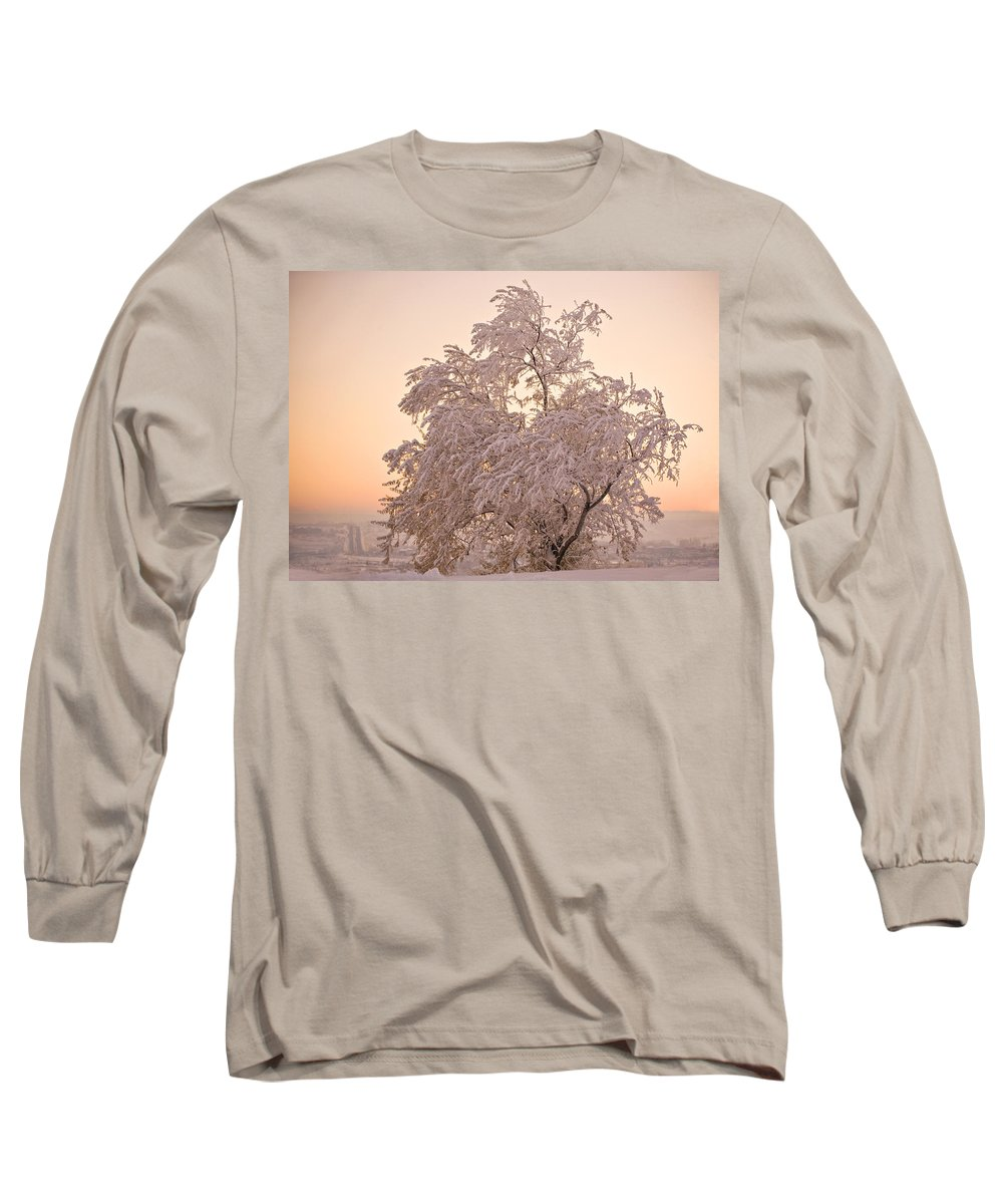 Winter Long Sleeve T-Shirt featuring the photograph Winter Sunset by Marilyn Hunt