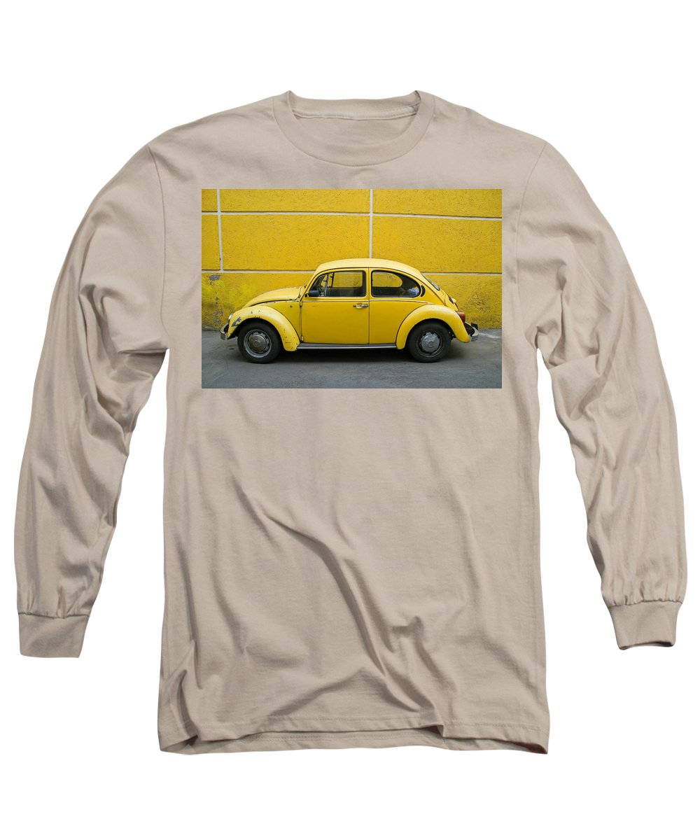 Yellow Long Sleeve T-Shirt featuring the photograph Yellow Bug by Skip Hunt