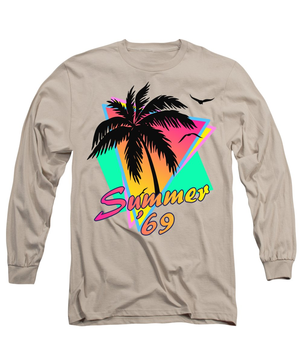 69 Long Sleeve T-Shirt featuring the digital art Summer Of 69 by Filip Hellman