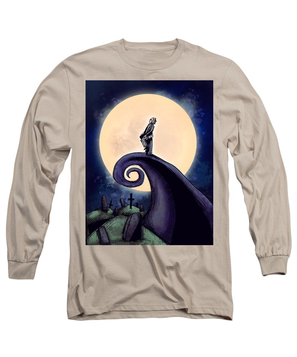 Beetle Long Sleeve T-Shirt featuring the drawing Beetle Before Christmas by Ludwig Van Bacon