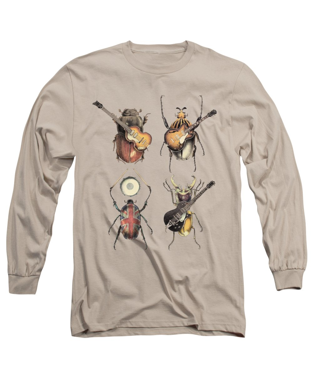 Beatles Long Sleeve T-Shirt featuring the digital art Meet the Beetles by Eric Fan