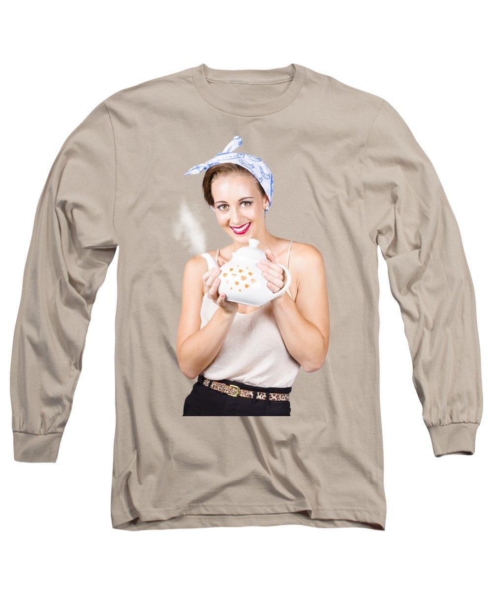 Cafe Long Sleeve T-Shirts