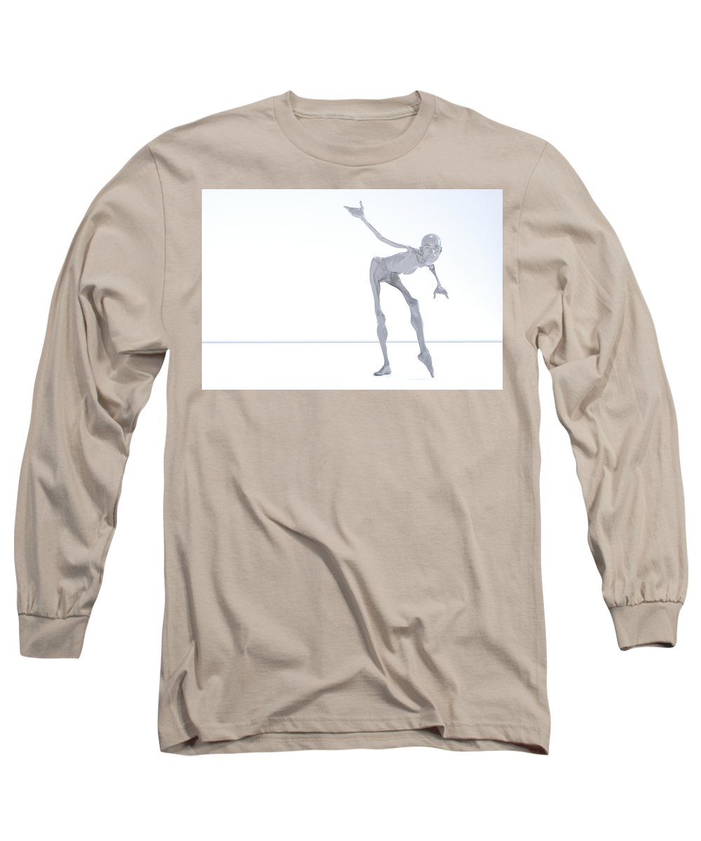 Lisa Long Sleeve T-Shirt featuring the digital art The Beautiful Lisa Bow 019 by Betsy Knapp