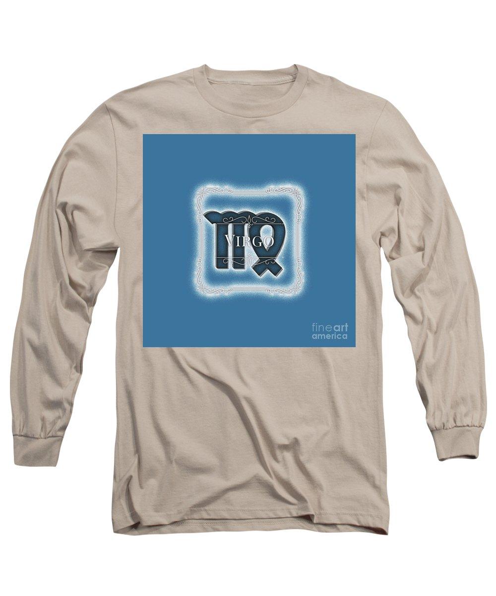 Zodiac Long Sleeve T-Shirt featuring the digital art Virgo by Esoterica Art Agency