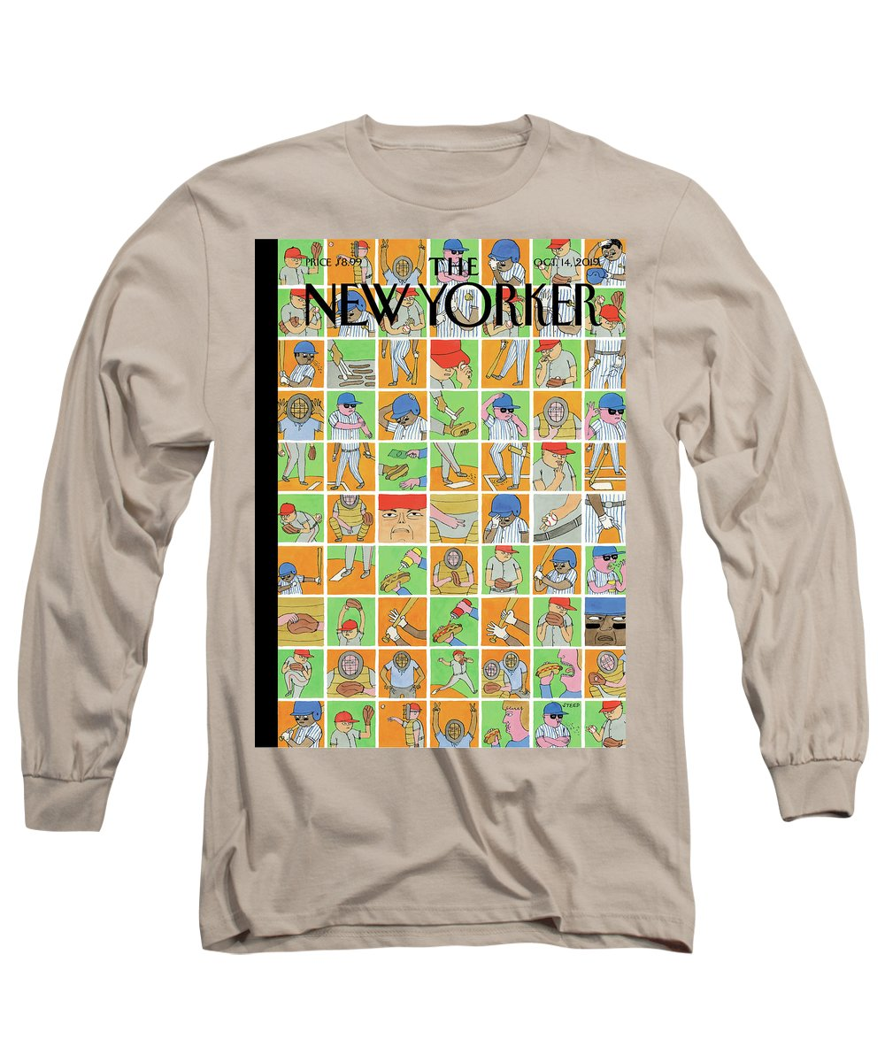 Inside Baseball Long Sleeve T-Shirt featuring the painting Inside Baseball by Edward Steed