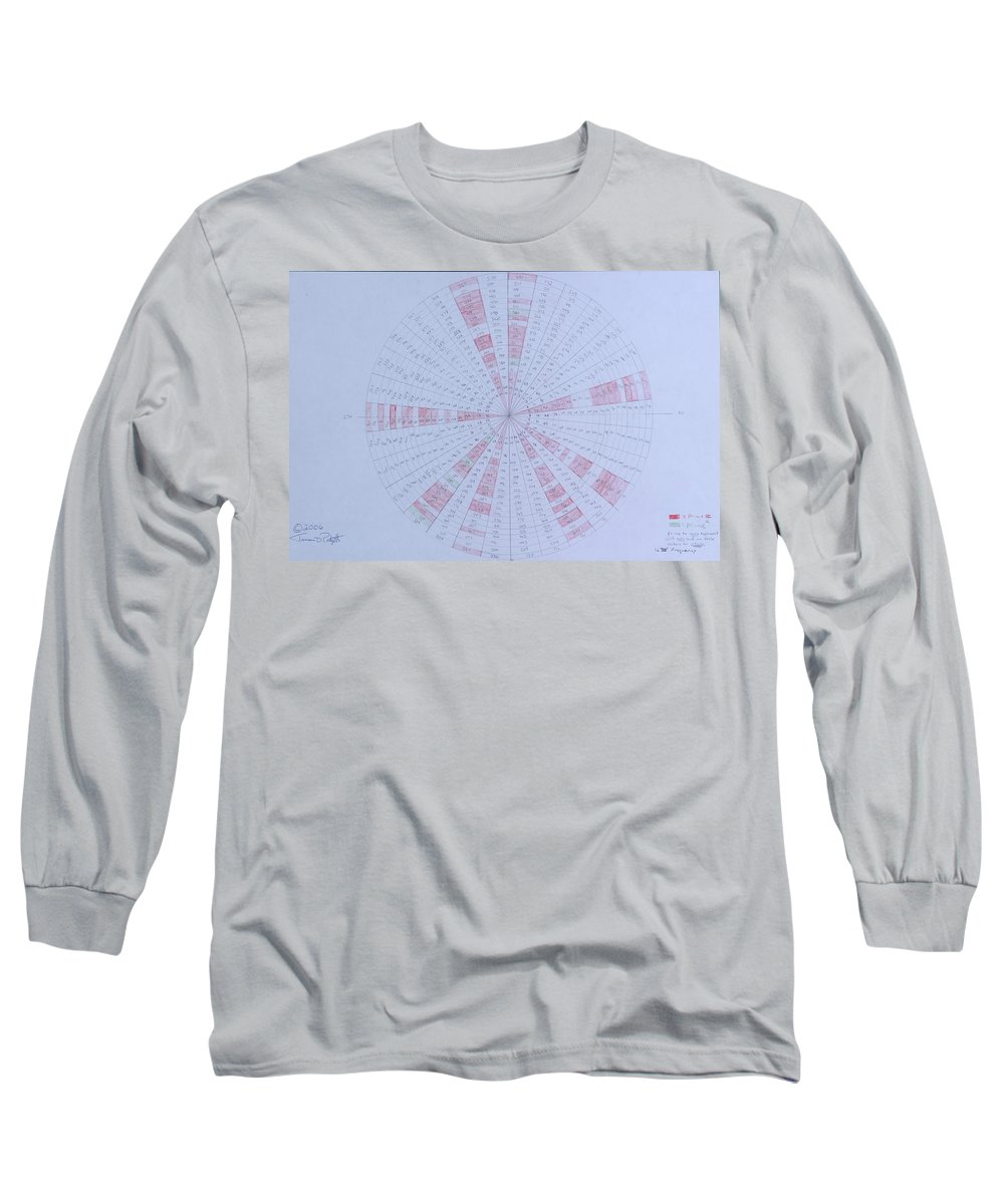 Prime Long Sleeve T-Shirt featuring the drawing Prime Number Pattern P Mod 30 by Jason Padgett