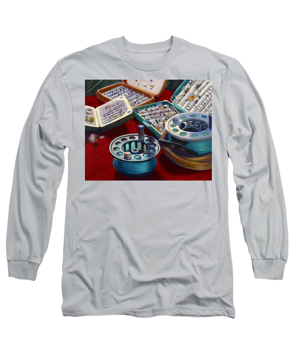 Still Life Long Sleeve T-Shirt featuring the painting A Howard Runs Through It by Shannon Grissom