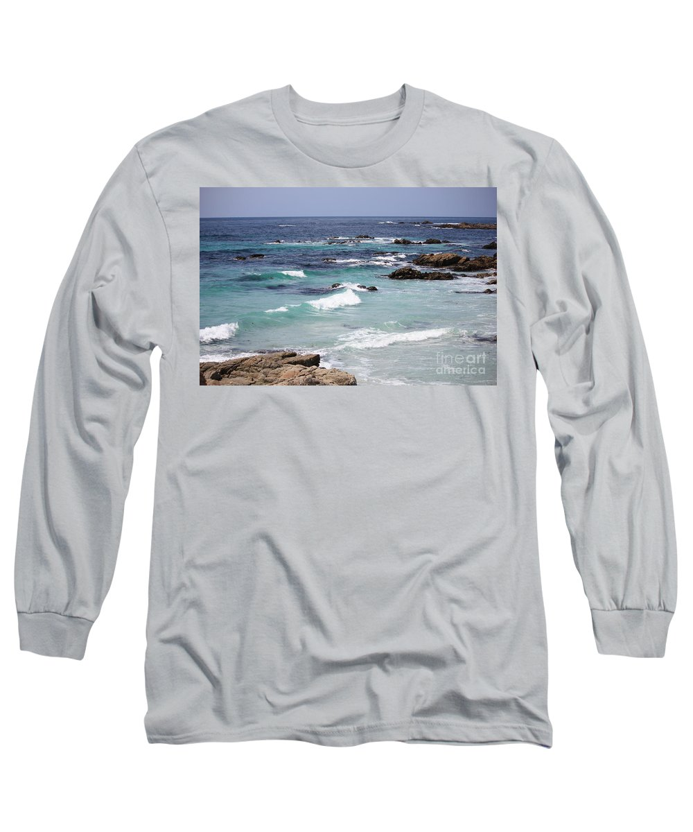 Blue Surf Long Sleeve T-Shirt featuring the photograph Blue Surf by Carol Groenen