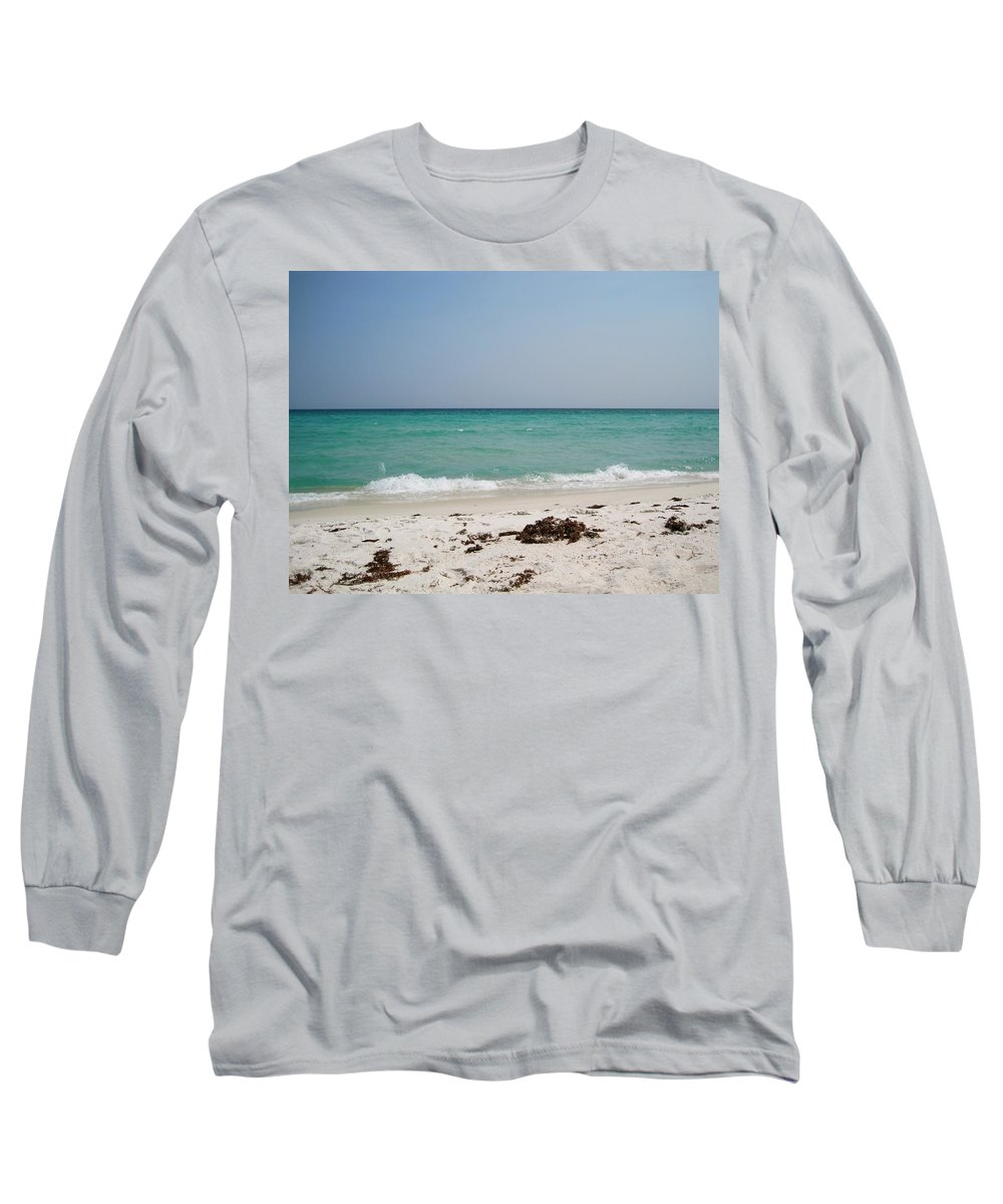 Seascape Long Sleeve T-Shirt featuring the photograph Calming Sea by Megan Cohen