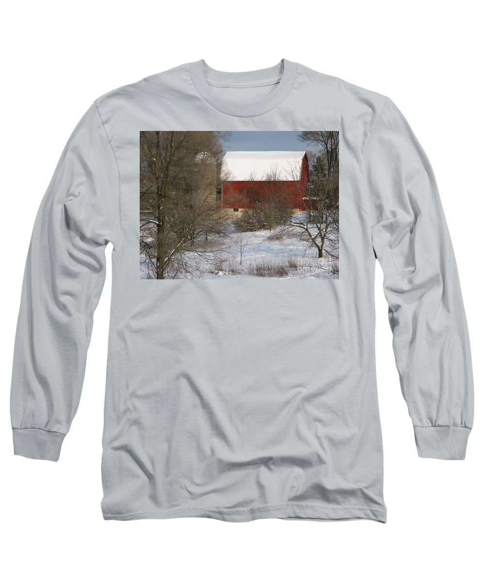 Winter Long Sleeve T-Shirt featuring the photograph Country Winter by Ann Horn