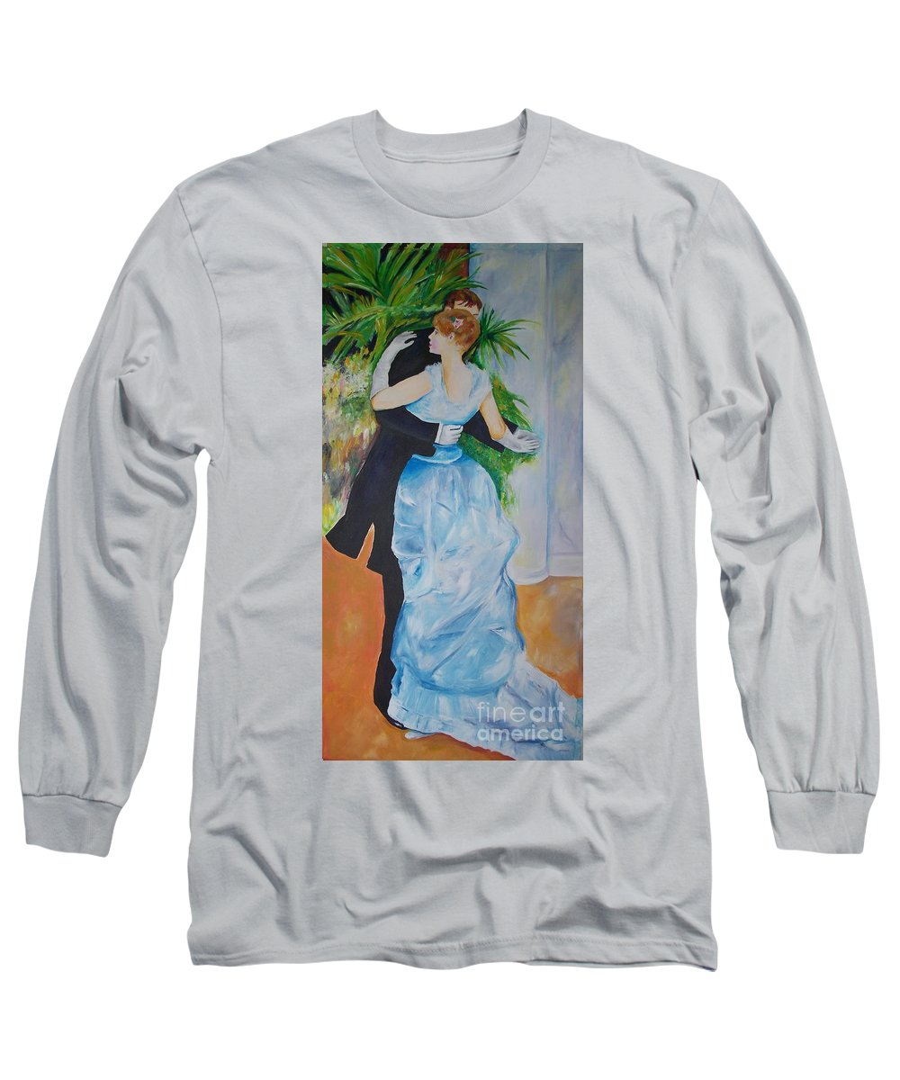Lavender Long Sleeve T-Shirt featuring the painting Dance In The City by Eric Schiabor