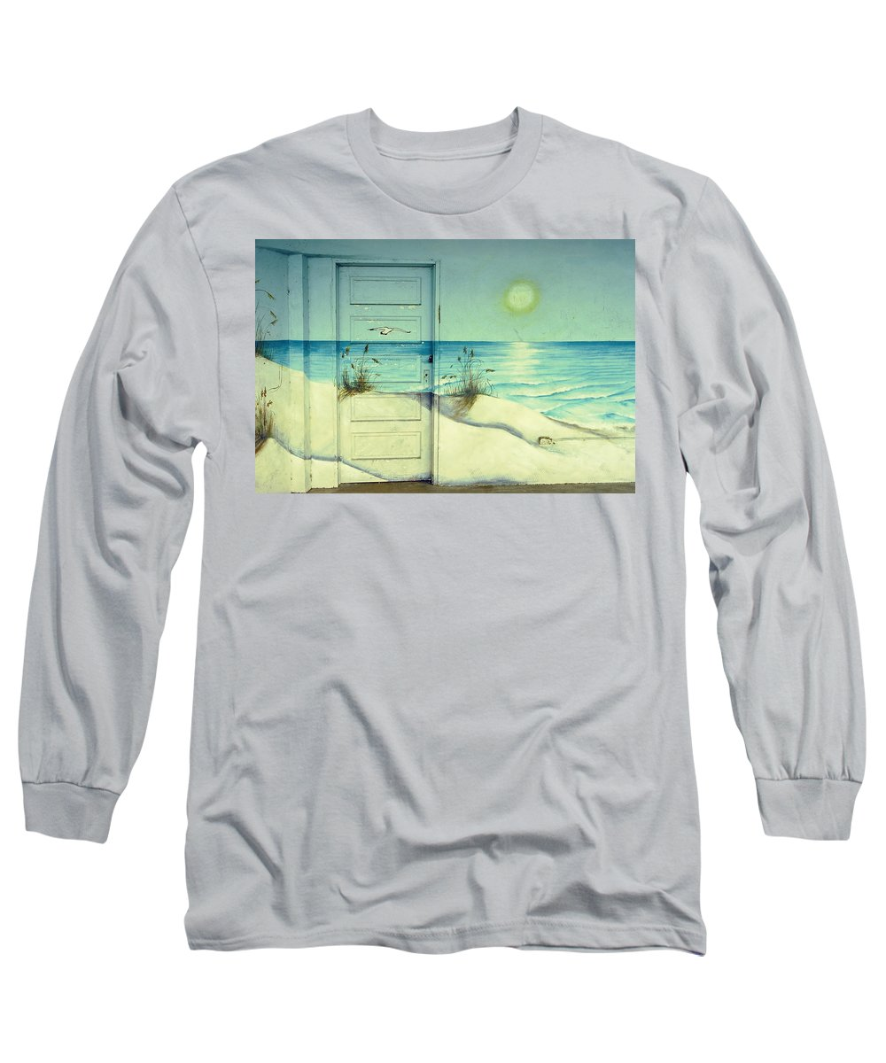 Architecture Long Sleeve T-Shirt featuring the photograph Door Of Perception by Skip Hunt