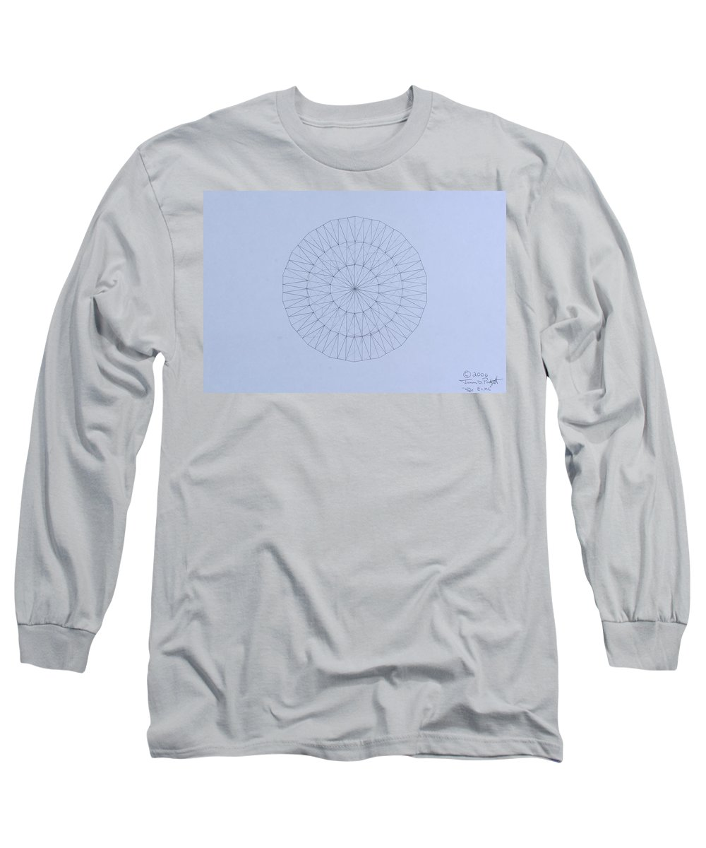Jason Padgett Long Sleeve T-Shirt featuring the drawing Energy Wave 20 Degree Frequency by Jason Padgett