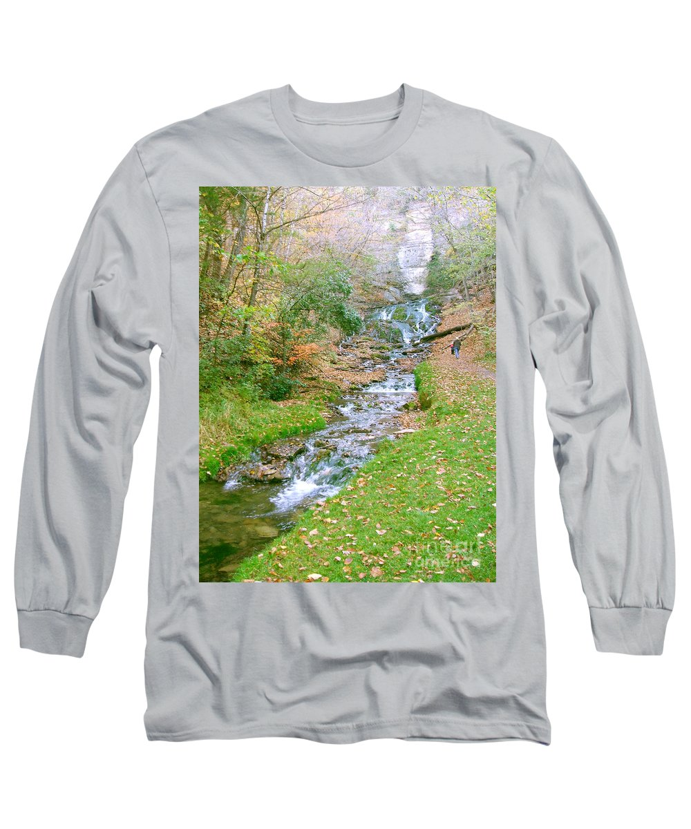 Springs Long Sleeve T-Shirt featuring the photograph Fall Springs by Minding My Visions by Adri and Ray