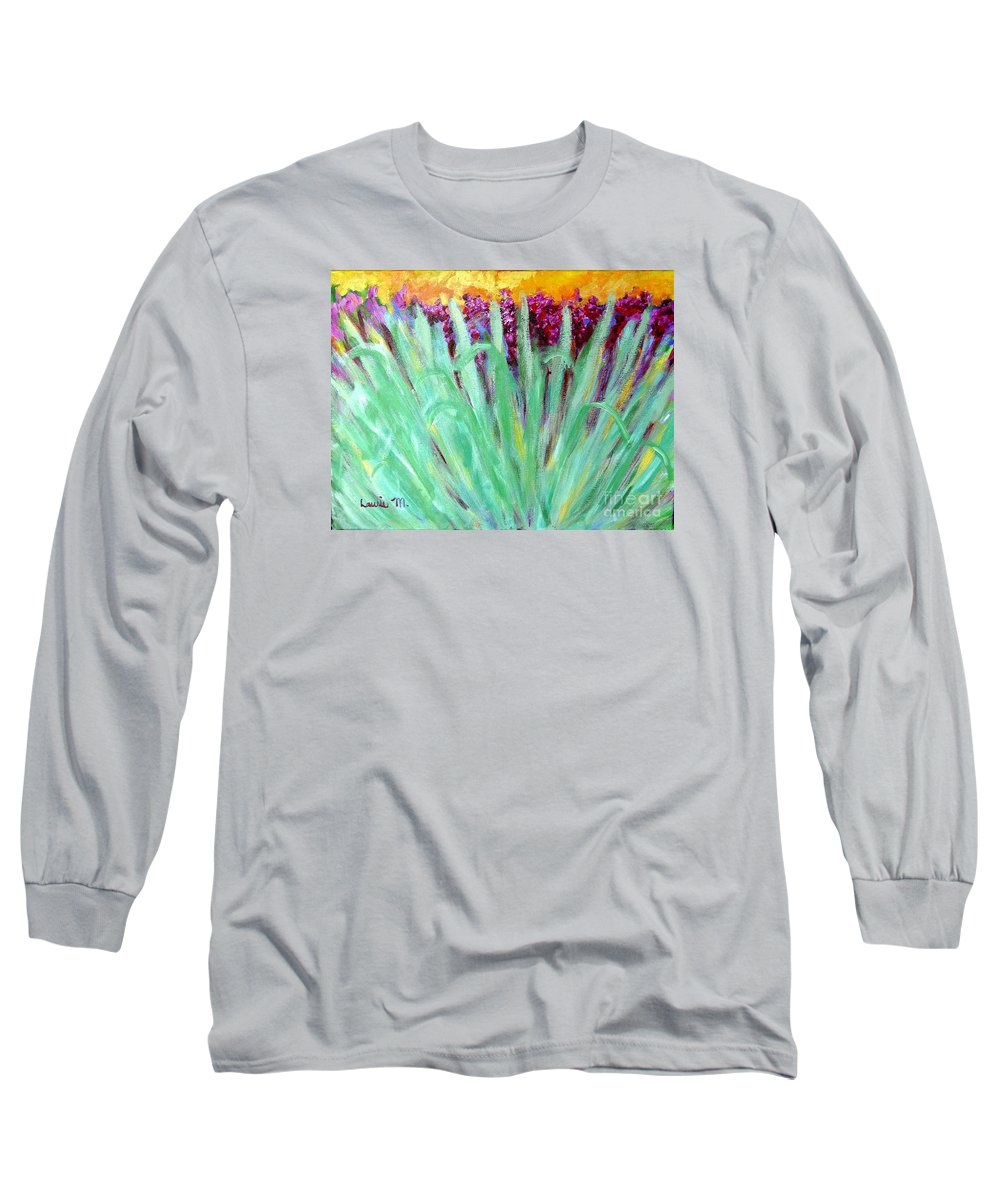 Abstract Long Sleeve T-Shirt featuring the painting Festoon by Laurie Morgan