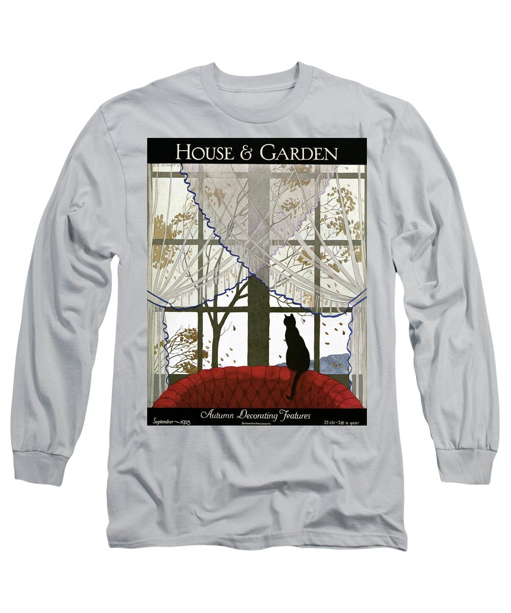 Illustration Long Sleeve T-Shirt featuring the photograph House And Garden Cover by Andre E. Marty
