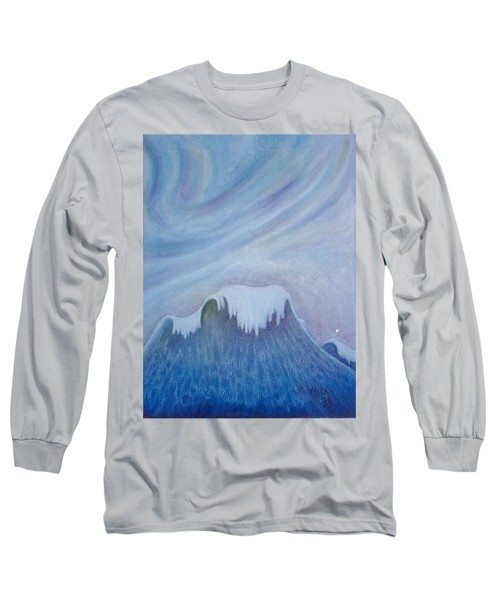 Ocean Long Sleeve T-Shirt featuring the painting Ocean Wave by Micah Guenther
