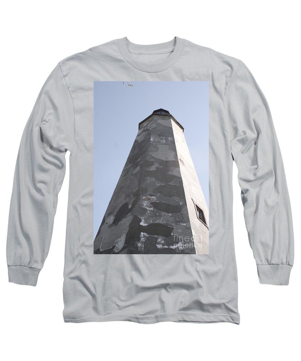 Lighthouse Long Sleeve T-Shirt featuring the photograph Old Baldy Lighthouse Nc by Nadine Rippelmeyer
