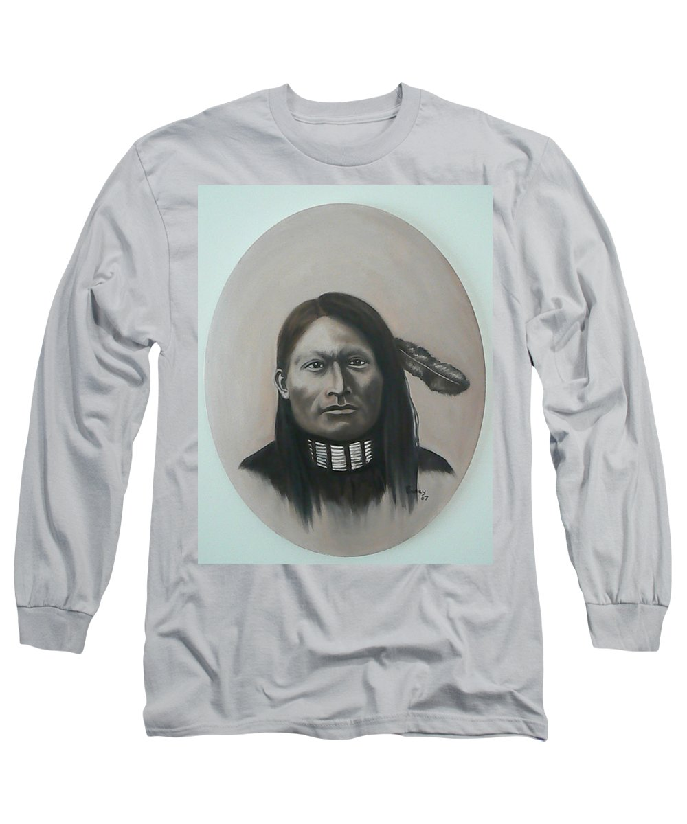Michael Long Sleeve T-Shirt featuring the painting Red Armed Panther by Michael TMAD Finney