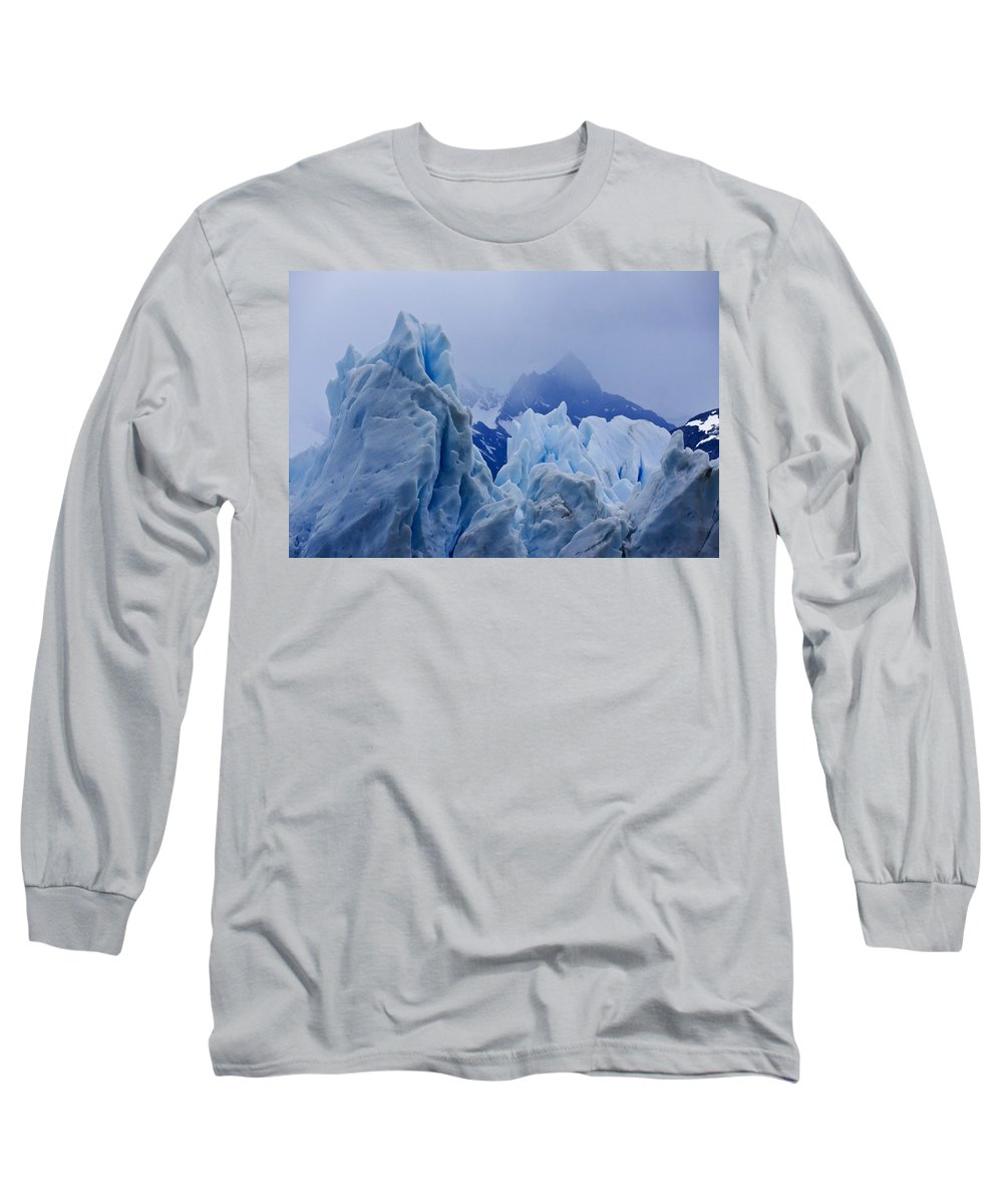 Argentina Long Sleeve T-Shirt featuring the photograph Sculpture In Blue by Michele Burgess