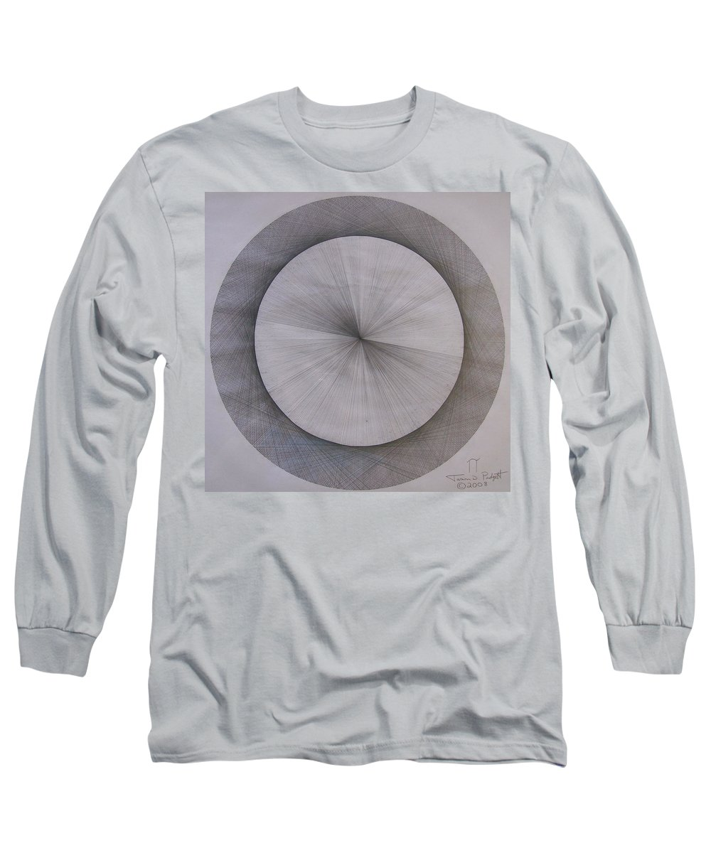 Pi Long Sleeve T-Shirt featuring the drawing The Shape Of Pi by Jason Padgett