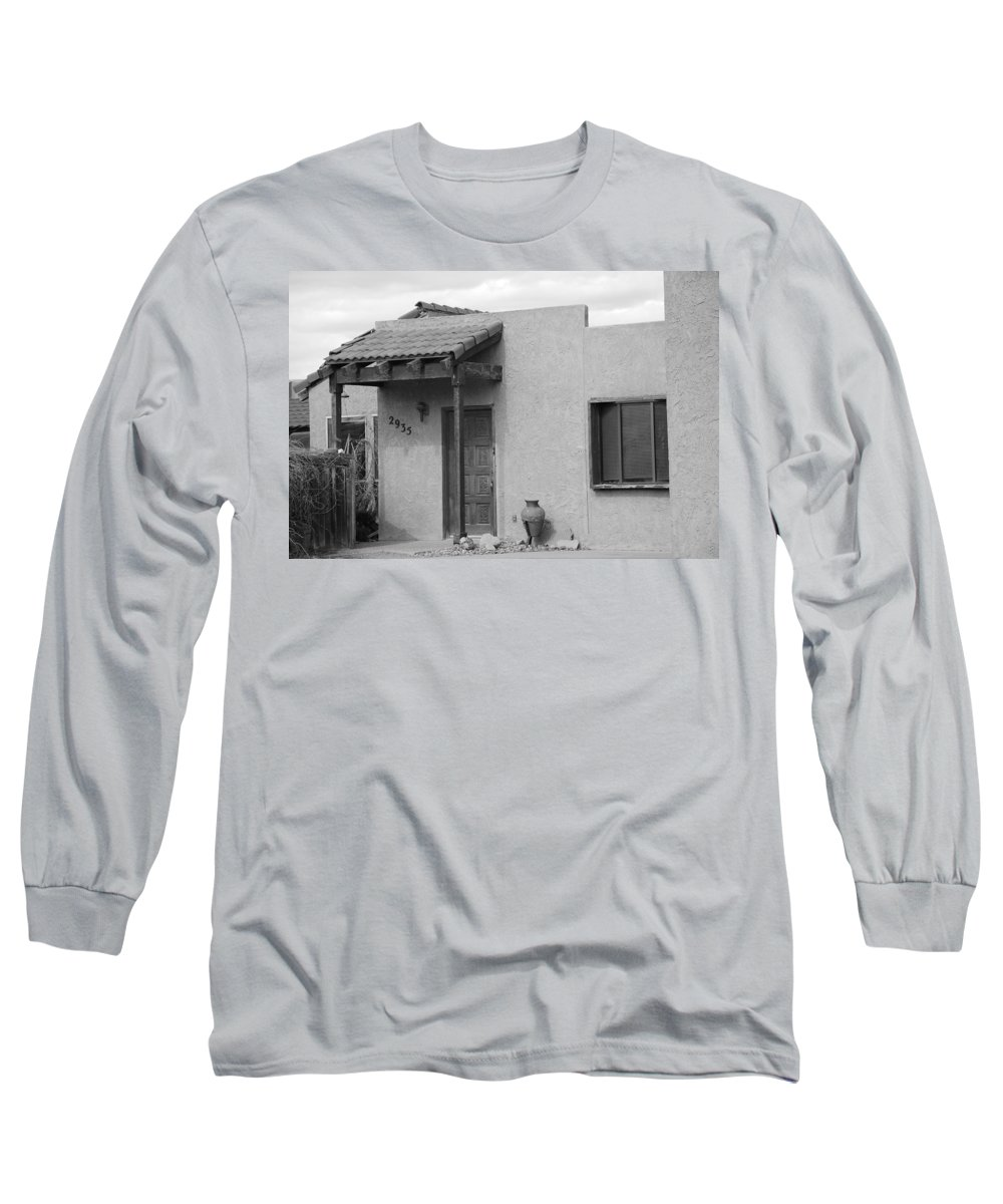 Architecture Long Sleeve T-Shirt featuring the photograph Adobe House by Rob Hans