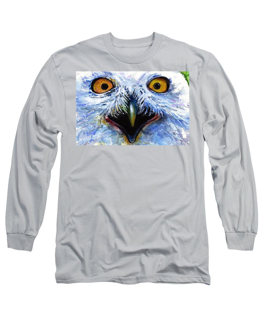 Eye Long Sleeve T-Shirt featuring the painting Eyes Of Owls No. 15 by John D Benson