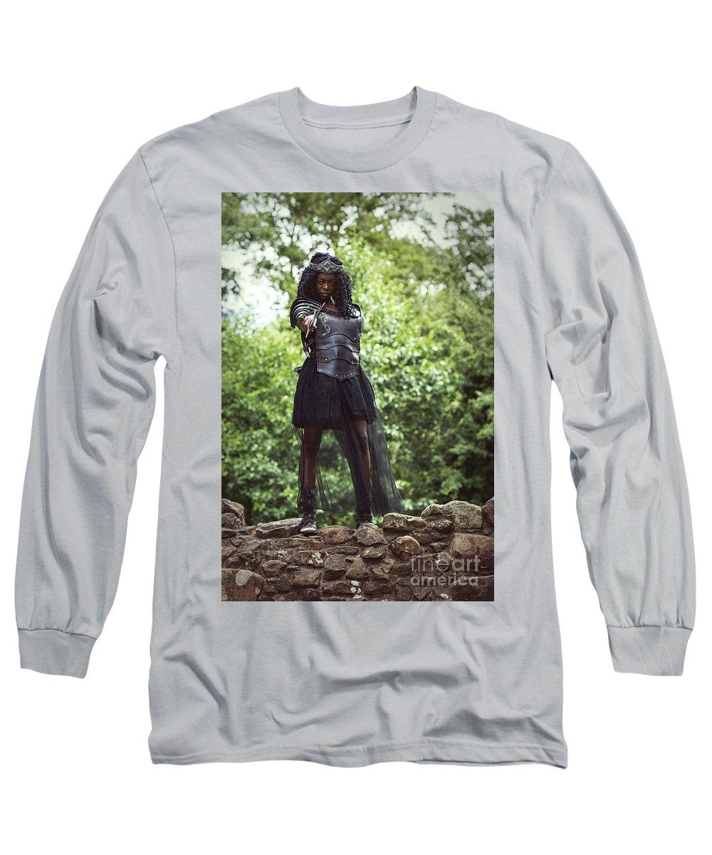 Got Long Sleeve T-Shirt featuring the photograph Got Warrior Princess by Amanda Elwell