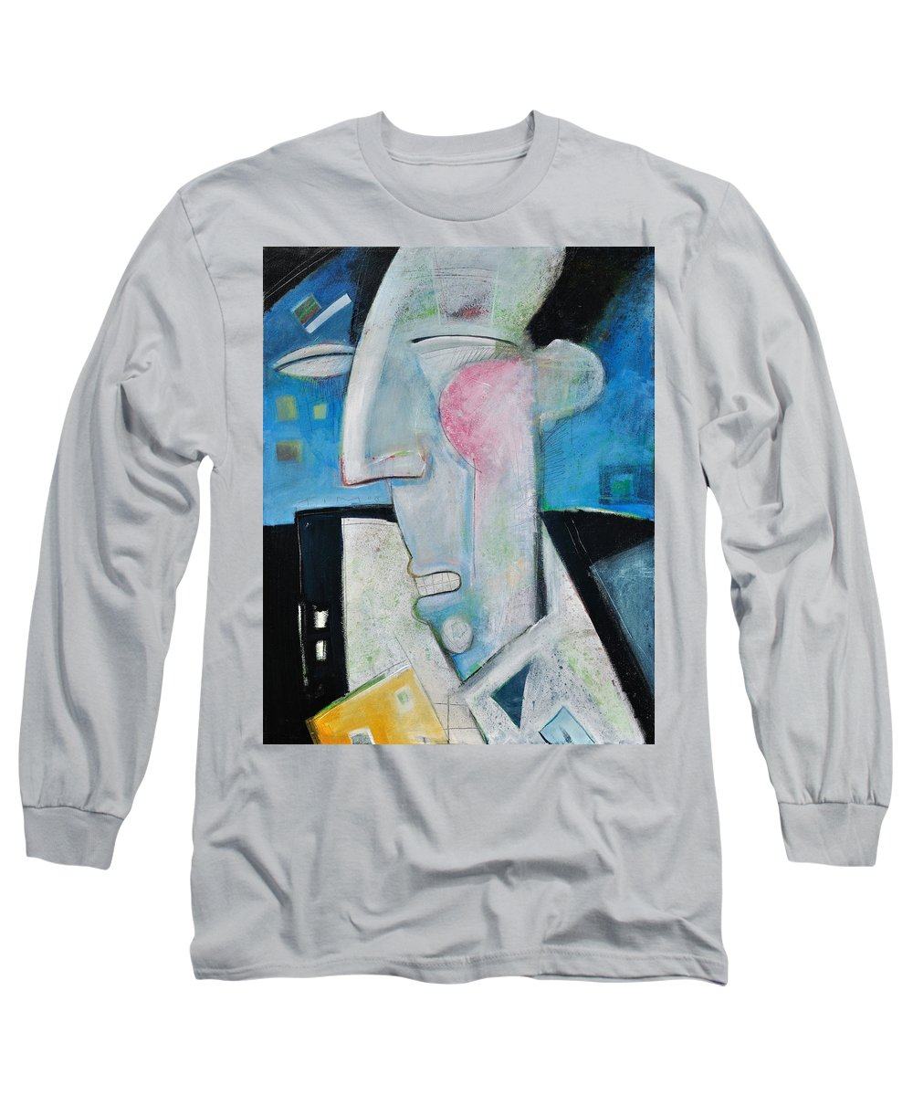 Jazz Long Sleeve T-Shirt featuring the painting Jazz Face by Tim Nyberg