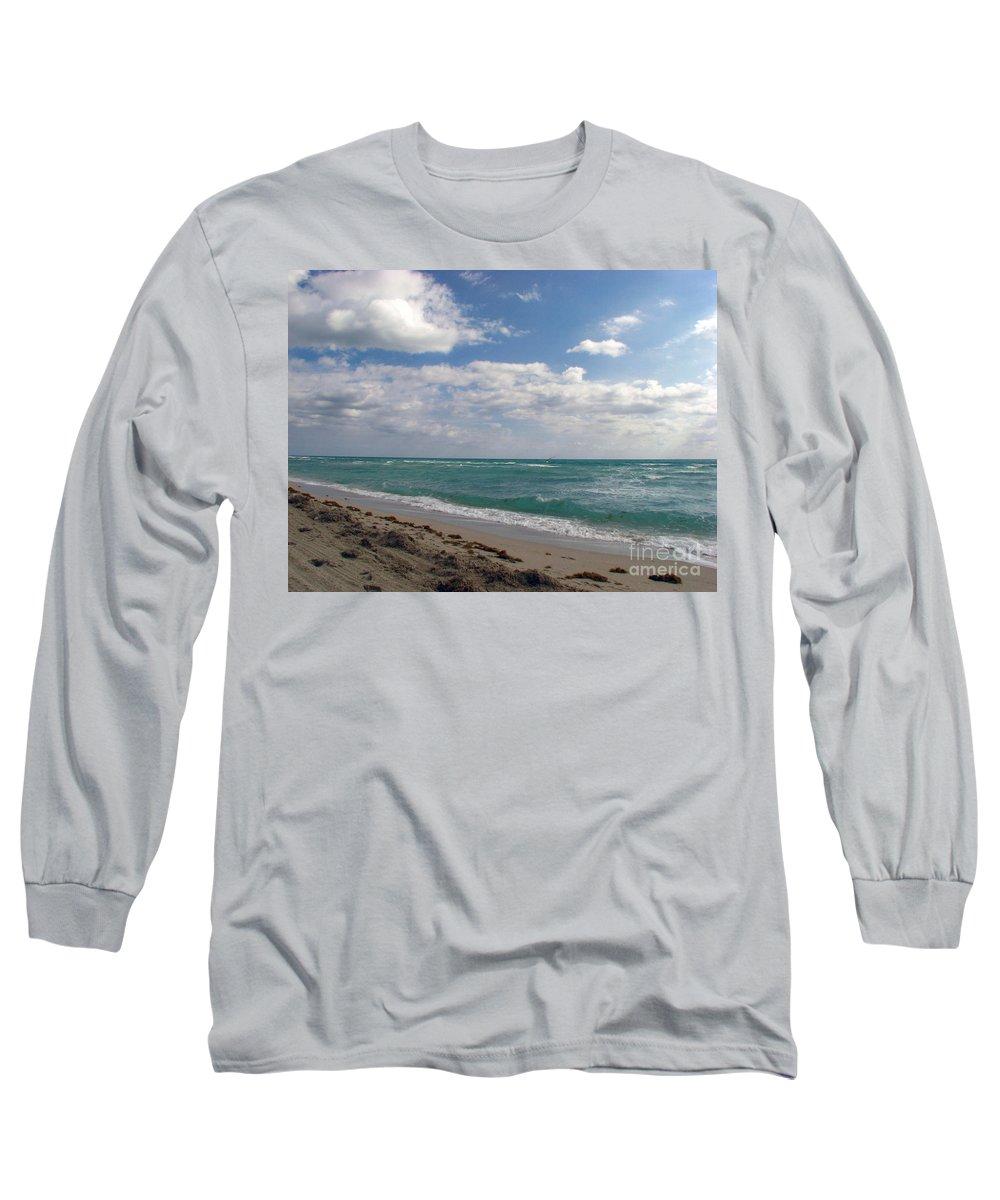 Miami Beach Long Sleeve T-Shirt featuring the photograph Miami Beach by Amanda Barcon
