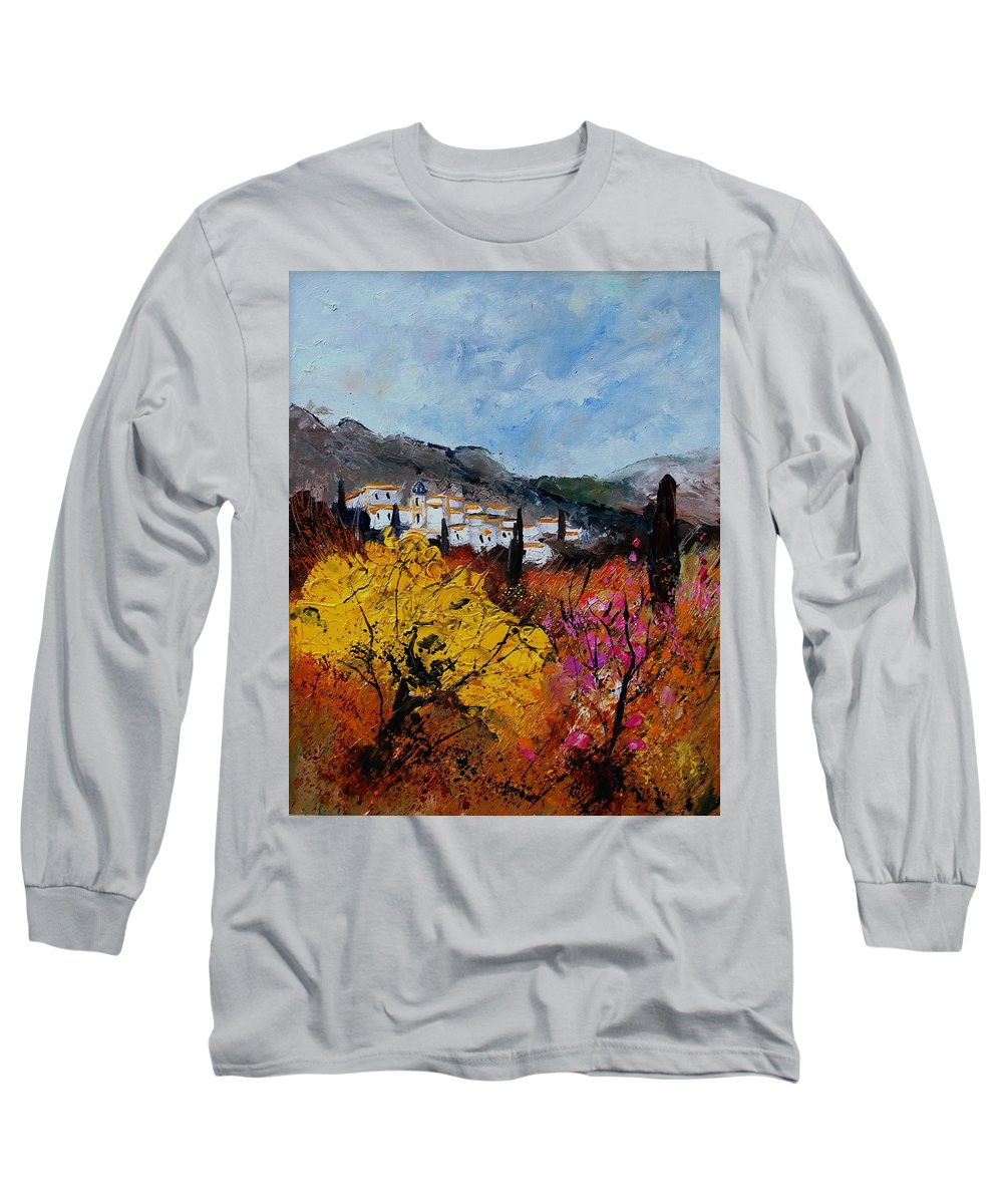 Provence Long Sleeve T-Shirt featuring the painting Provence by Pol Ledent
