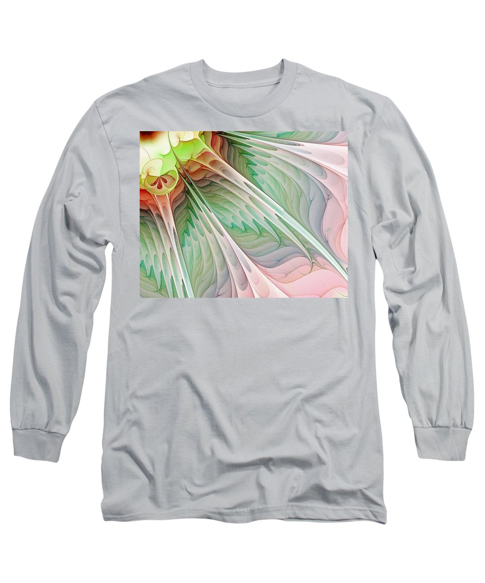 Digital Art Long Sleeve T-Shirt featuring the digital art Petals by Amanda Moore