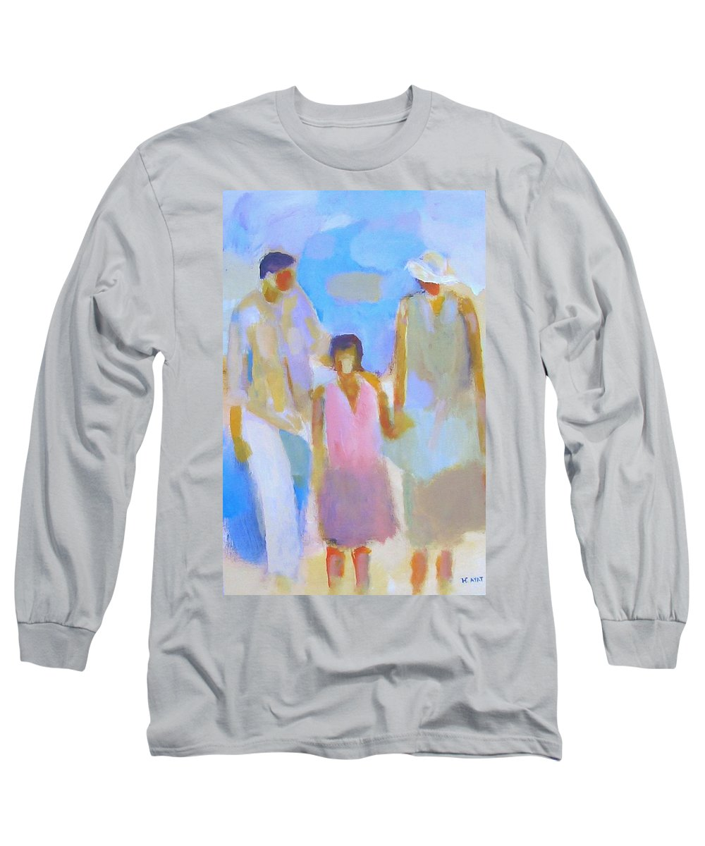 Abstract Long Sleeve T-Shirt featuring the painting 3 With Love by Habib Ayat