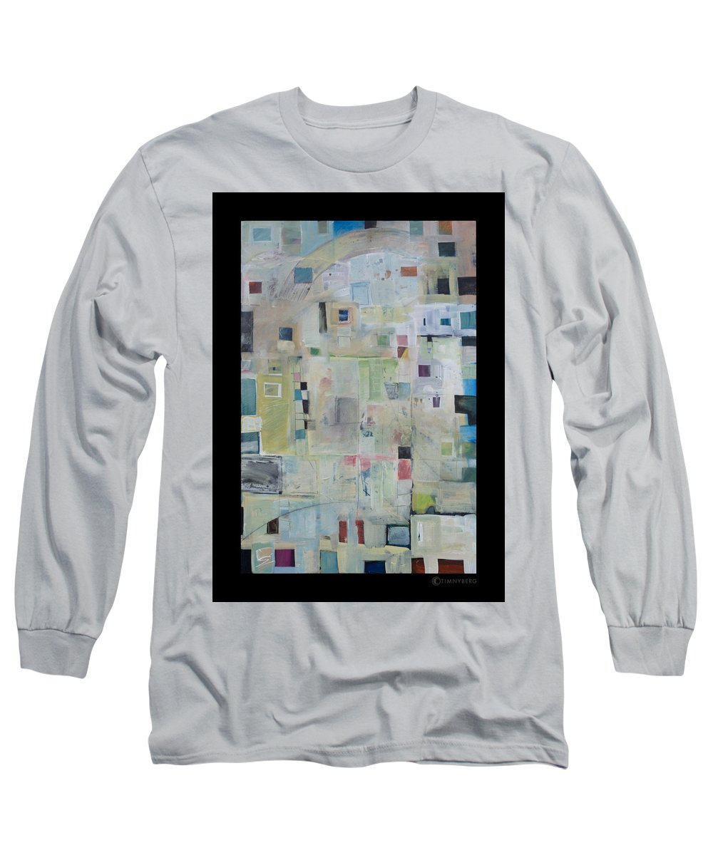 Abstract Long Sleeve T-Shirt featuring the painting 7am In The City That Doesn by Tim Nyberg