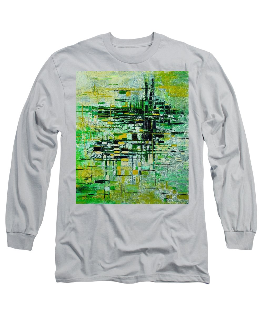 Abstract Long Sleeve T-Shirt featuring the painting Abstract 5 by Pol Ledent