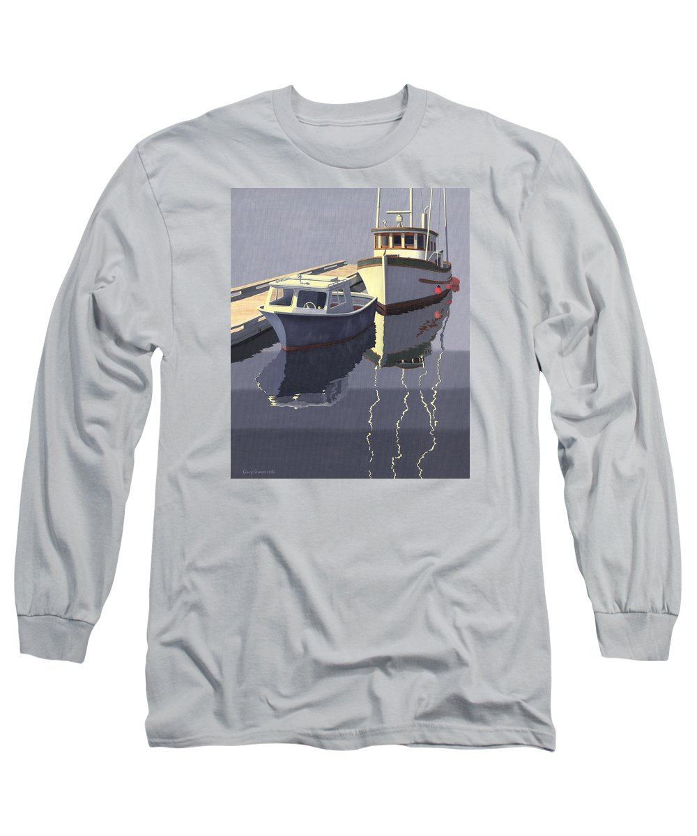 Boat Long Sleeve T-Shirt featuring the painting After The Rain by Gary Giacomelli