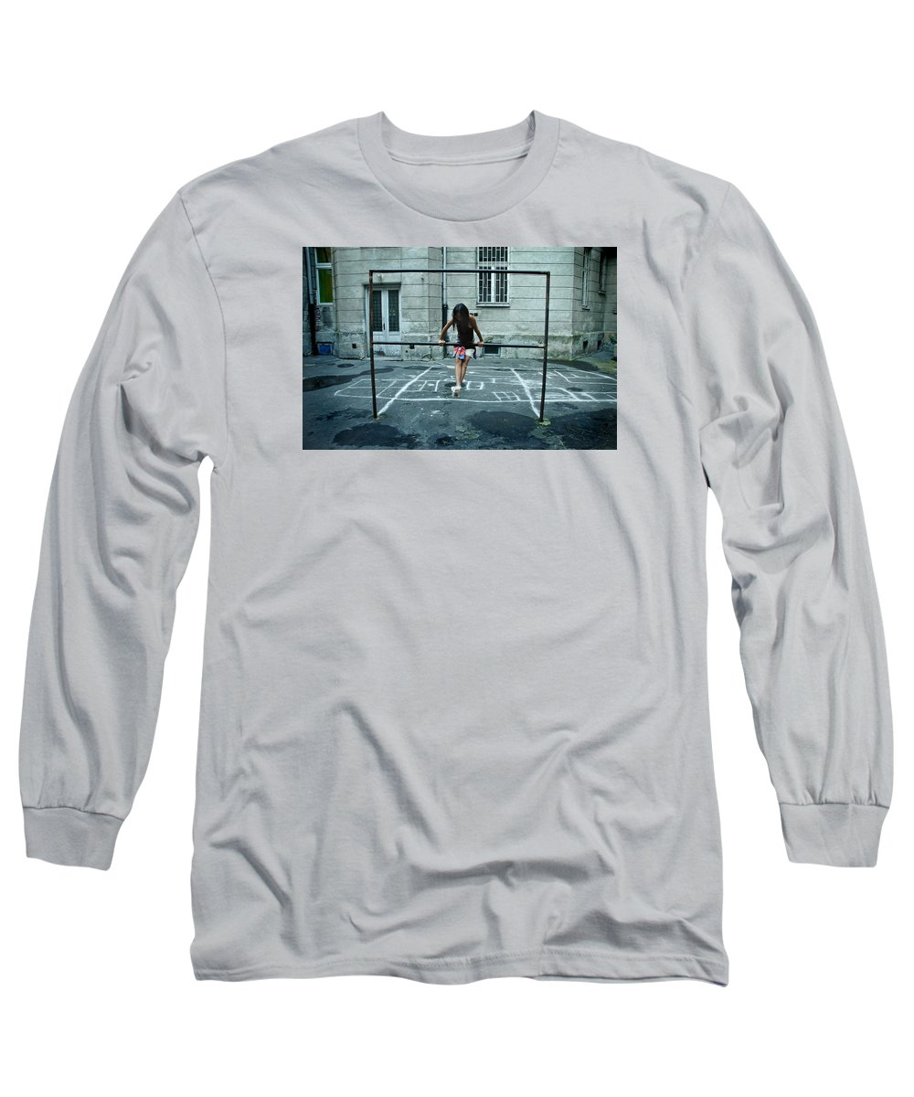 Children Long Sleeve T-Shirt featuring the photograph Ana At The Barre by Michael Ziegler